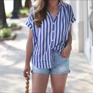 Madewell Tops - Madewell Striped Button down